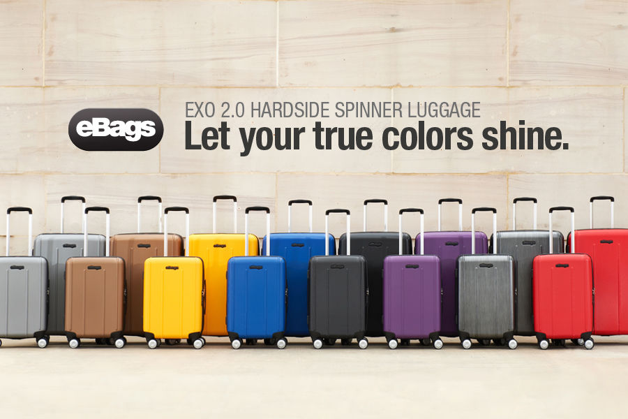 Shop eBags EXO 2.0 Hardside Spinner Luggage. Let your true colors shine.