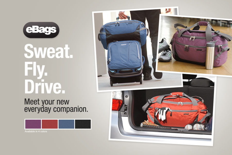Sweat. Fly. Drive. Meet your new everyday companion. Shop the new TLS Duffel bag from the eBags Brand