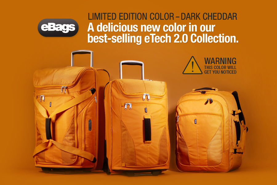Shop the NEW eBags Brand eTech 2.0 Luggage Collection in Limited Edition color, Dark Cheddar.