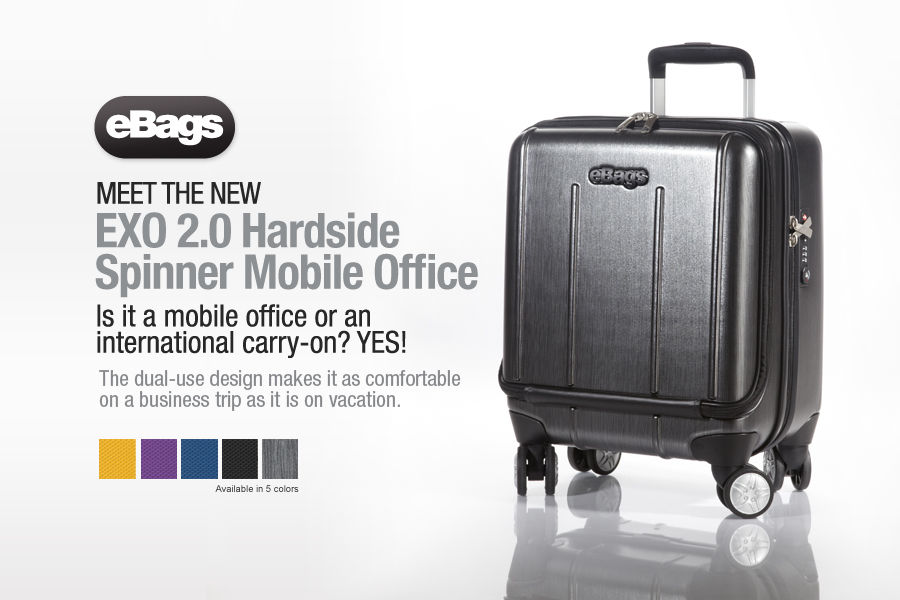 Shop the new eBags Brand EXO 2.0 Hardside Mobile Office Luggage.