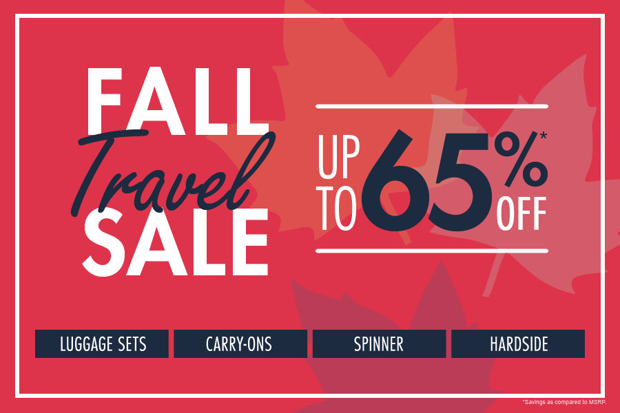 Shop Fall Travel Sale