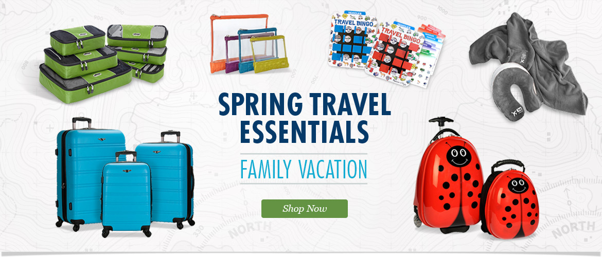 Spring Family Travel Essentials: Shop Backpacks, Luggage, Games and Accessories