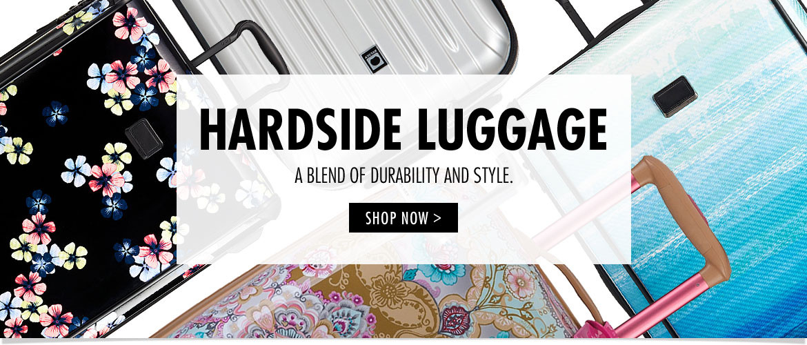 Hardside Luggge- A blend of durability and style.
