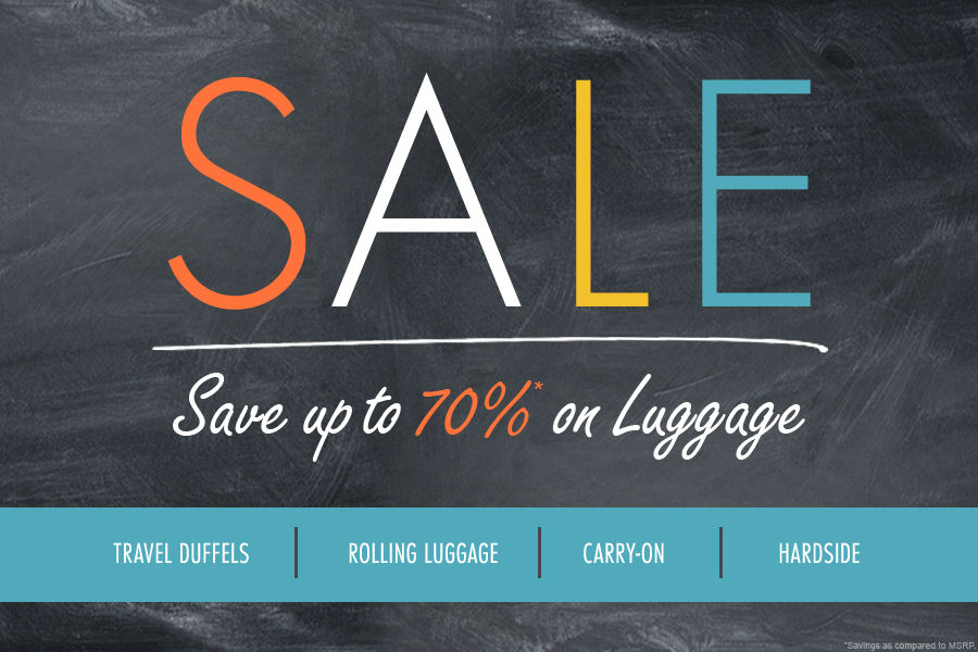 Shop Luggage Sale | Save up to 70% on Travel Duffels, Rolling Luggage, Carry-on, and Hardside