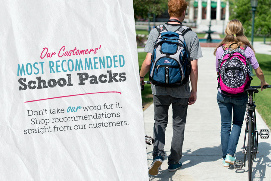 Shop Our Customer's Most Recommended School Packs & Backpacks