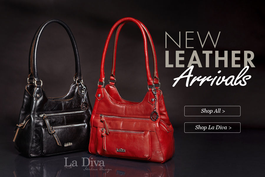 Shop New Leather Arrivals in Handbags & Purses featuring La Diva