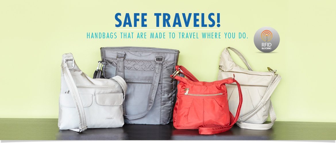Safe Travels! Shop Handbags that are made to travel where you do. Featuring RFID Blocking Technology. Shop Now!