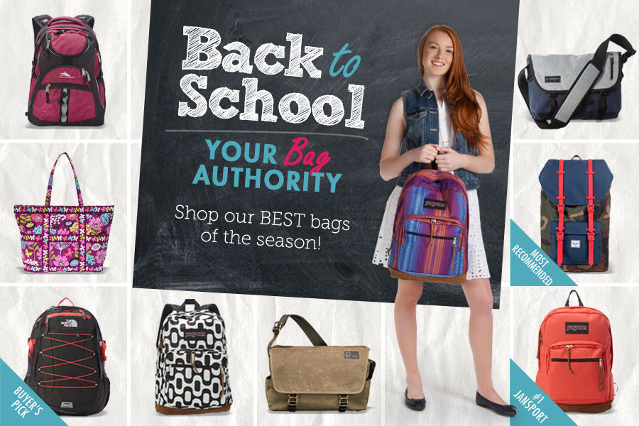 Back to School: Your Bag Authority. Shop our Best bags of the Season. Handbags, backpacks, laptop bags, messengers, totes, purses.