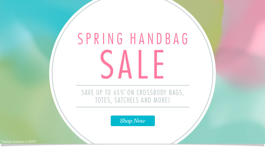Spring Handbag Sale: Save up to 65% on Purses, Crossbody Bags, Totes, Satchels and More! Shop Now