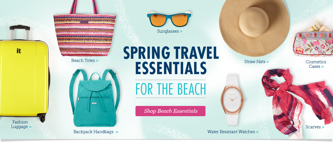 Shop Spring Travel Essentials for the Beach!