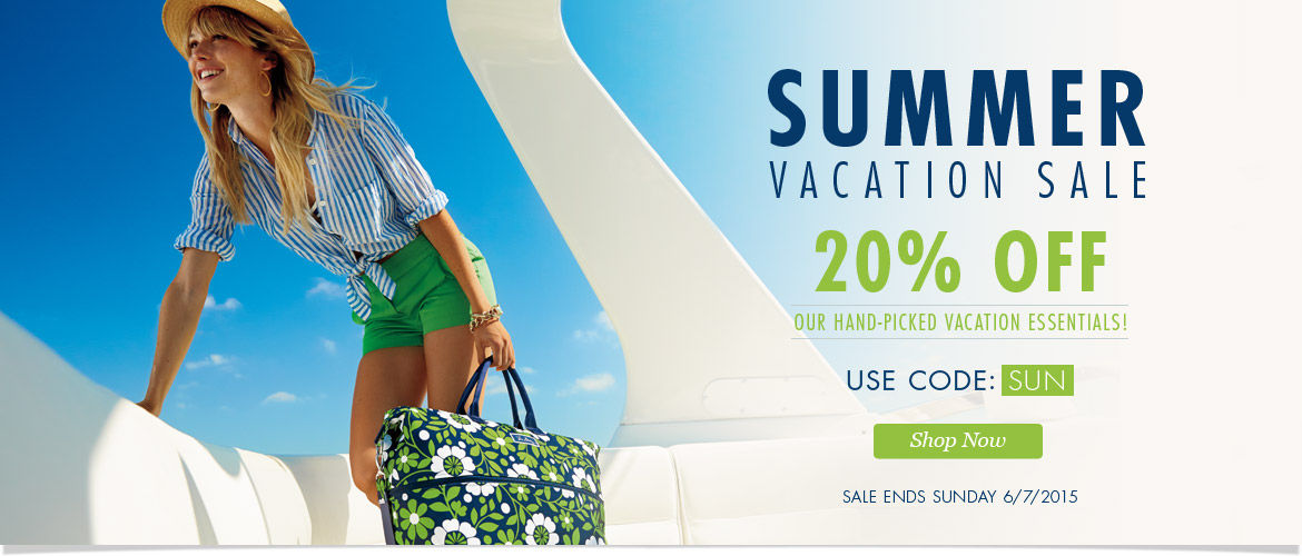 Summer Vacation Sale: 20% Off Our Hand-Picked Vacation Essentials! Use Code: SUN  Ends 6/7/15 at 11pm PT