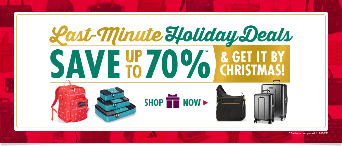 Hurry! Last Minute Holiday Deals! Save up to 70% Off AND Get it by Christmas! Shop Now
